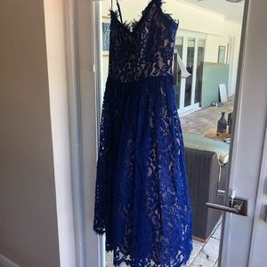 Brand new cobalt blue Eliza cocktail dress